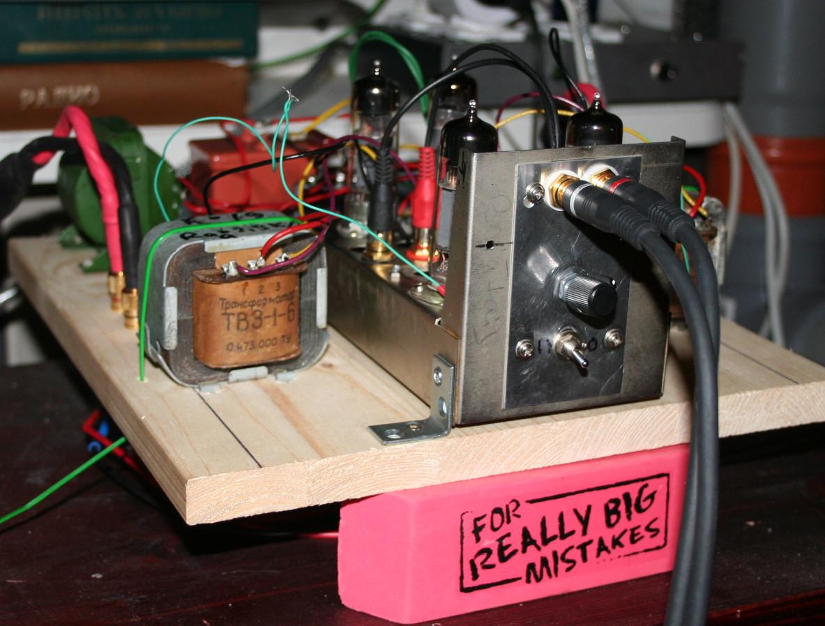 ламповый усилитель 6ж4 схема драйвер на трансформаторе